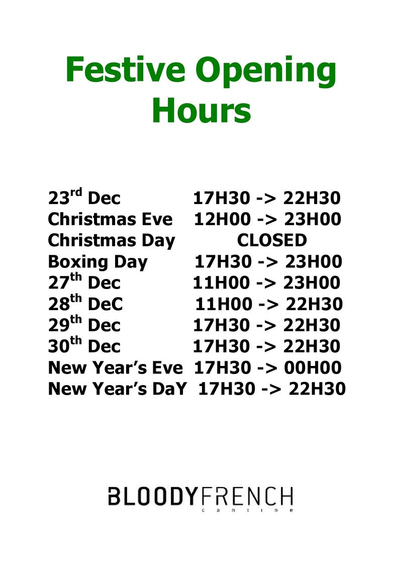 FESTIVE OPENING HOURS 2014-page0001